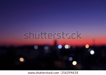 Cityscape at twilight time, Blurred Photo bokeh #256294618