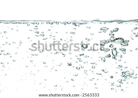 water bubbles isolated on white background #2563333