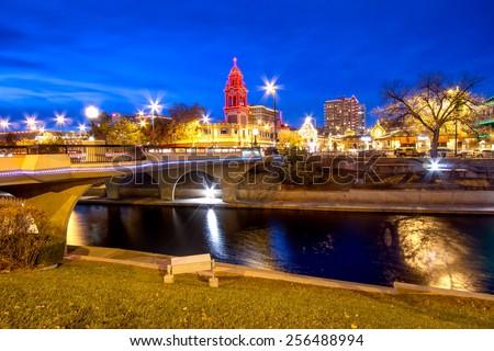 Kansas City Country Club Plaza area during Christmas