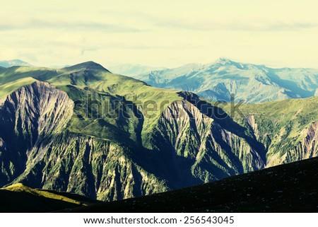 Summer green hills #256543045