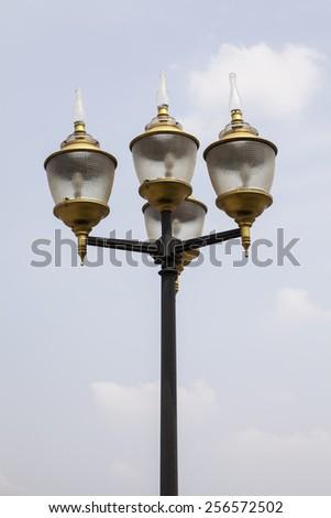 lighting outdoor in the park #256572502