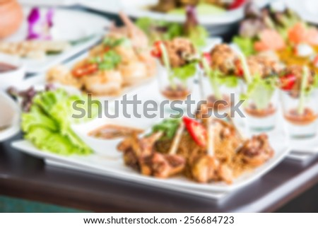 spicy dishes blurred background #256684723