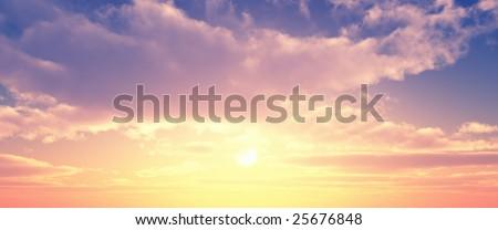Beautiful sunset #25676848