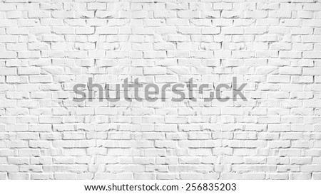Brick wall painted in white #256835203