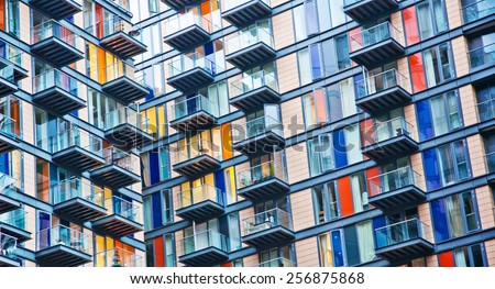 Urban life symbol, densely populated house