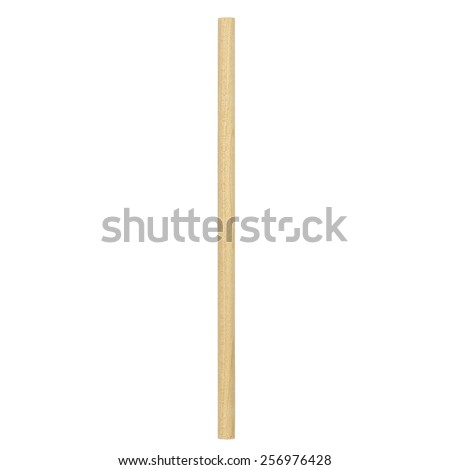wooden stick  isolated on white background Royalty-Free Stock Photo #256976428
