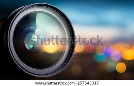 Camera lens  Royalty-Free Stock Photo #257543317