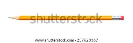 Amazing isolated pencil on pure white background Royalty-Free Stock Photo #257628367