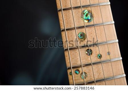 Fingerboard electric guitar close-up #257883146
