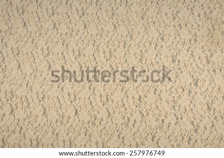 Beige lace surface as a background #257976749