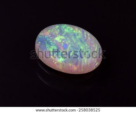 An Australian Opal on Black