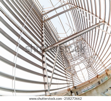 Structural steel framework Royalty-Free Stock Photo #258273662