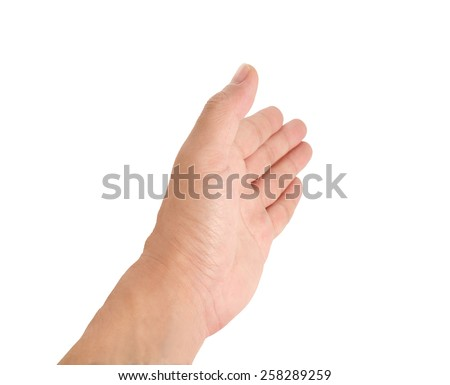 Human hand on white background. #258289259