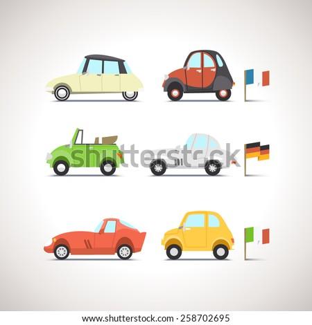 Car Flat Icon Set 8