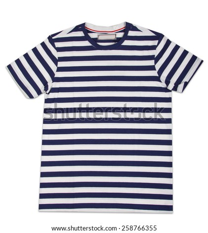 New stripes mens shirt. T-shirt Isolated on white #258766355