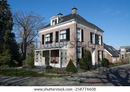 Old historic buildings, little palaces in Assen #258774608