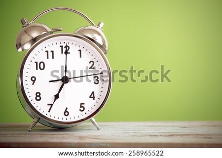 Retro alarm clock with retro colored #258965522