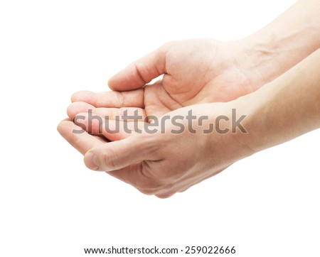 hands on a white background isolated #259022666