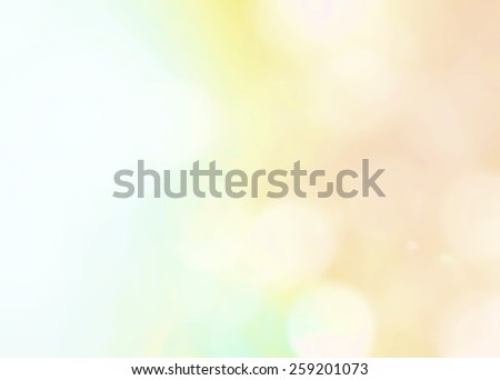 Rainbow bokeh with blurred sky background with nature glowing sun light flare and bokeh