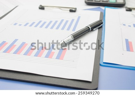 Close-up of financial statements #259349270