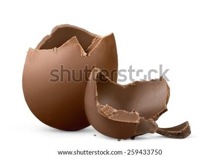 Egg, easter, broken. Royalty-Free Stock Photo #259433750