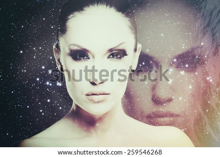 Face of the Universe, abstract science fiction backgrounds #259546268