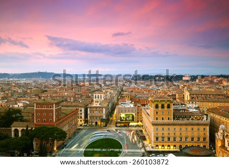 Wonderful view of Rome at sunset time #260103872