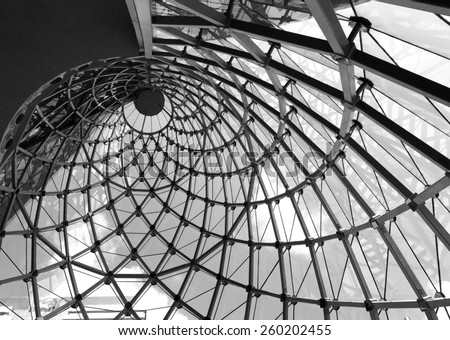Whirl architecture rooftop in black and white #260202455
