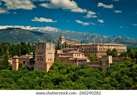 Alhambra fortress in Granada, Spain #260240282