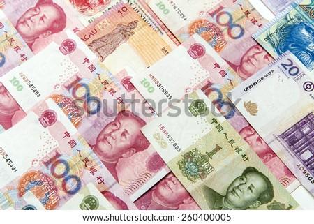 China,Macao and Hong kong money bills background #260400005