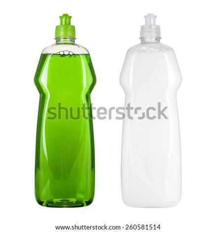 Blank dish washing liquid package Royalty-Free Stock Photo #260581514