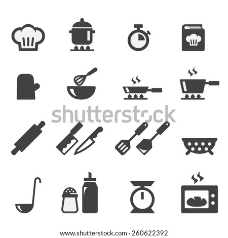 cooking icon Royalty-Free Stock Photo #260622392