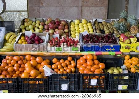 Traditional fruit shop. Fresh fruits in a fruit shop #26066965