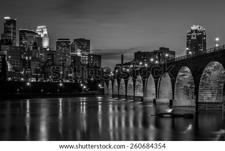 Minneapolis in Black and White