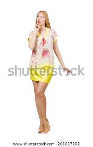 Emotional woman isolated on the white #261017102