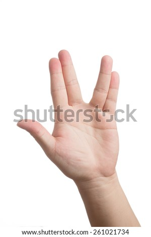 Well known hand signal from a TV series