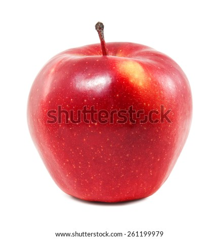 Fresh red apple on a white background #261199979