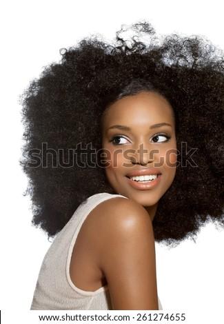 Happy African girl. #261274655