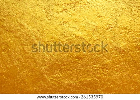 golden cement texture background Royalty-Free Stock Photo #261535970