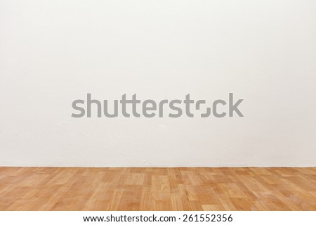 Empty room background with wooden floor. #261552356