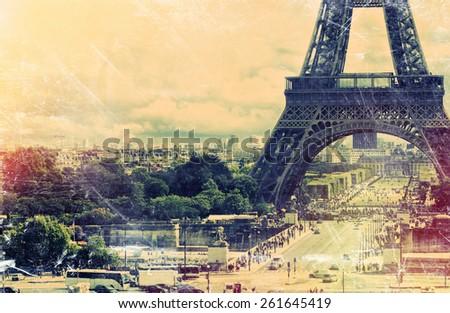 France background Eiffel tower