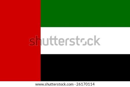 United Arab Emirates flag illustration, computer generated. #26170114