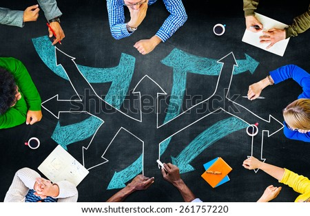 Direction Decision Chance Opportunity Intersection Concept Royalty-Free Stock Photo #261757220