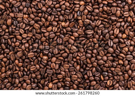 coffee beans on the table background texture #261798260