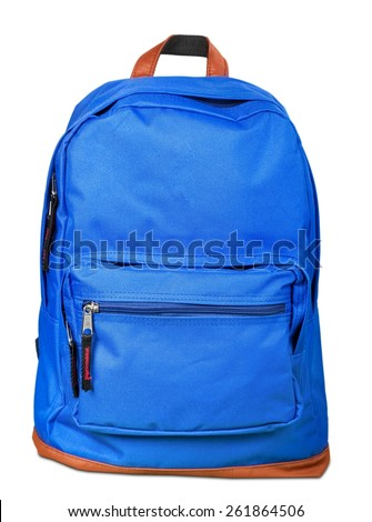 Backpack, bag, school. Royalty-Free Stock Photo #261864506