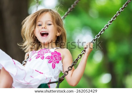 Child, Playing, Playground. Royalty-Free Stock Photo #262052429