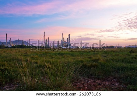 Oil refinery at twilight #262073186