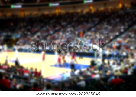 blurred background of sports arena crowd                                #262265045