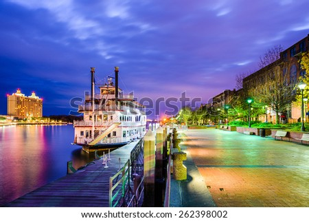 Savannah, Georgia, USA riverfront. #262398002