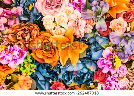 Flower background - vintage effect style pictures